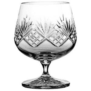 Fan Lattice Lead Crystal Cognac Glasses, Set of 6
