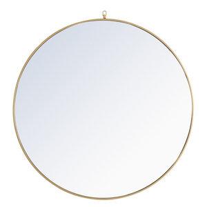 "Elegant Lighting MR406X-48 Eternity 48"" Diameter Circular Metal Framed Wall Mir"