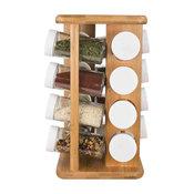 Home Basics 16 Piece Bamboo Revolving Spice Rack