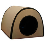 """K&H Pet Products - K&H Pet Products Mod Thermo-Kitty Shelter Tan 15""""x21.5""""x13"""" - The rigid exterior will hold up to any use. The extreme weather design keeps outdoor cats warm down to the lowest temperatures mother nature can throw at it. Half the floor is heated by a K&H Small Animal Heated Pad so the cat can choose to be on or off the warmth. Use in a barn, shed, porch, garage, under a deck or anywhere extreme temperatures exist. All KH heated beds and pads feature dual thermostats and are designed to warm to your pet's normal body temperature when he/she lies on the pad. When your pet is not on the pad, the heat will dissipate into the air and the surface temperature will vary according to the ambient air temperature. All KH heated products are thermostatically controlled to heat to 102� F, regardless of the size. Dual thermostat simply means there are two internal thermostats that will keep the surface of the bed at 10-15� F above ambient air temperature when your pet is not on the bed. When your pet lies on the bed, it will warm to about 102� F. Simple zip-together design Heated floor uses only 25 watts Rugged 600 Denier polyester exterior Easy to assemble MET Listed"""