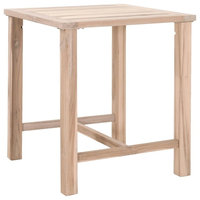 Orient Express Wicker Capri Outdoor Square Bar Height Table
