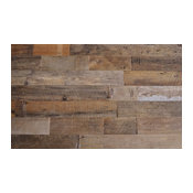 "Reclaimed Wood Wall Paneling, Brown, 5.5"" Wide, 20 sq. ft., Sealed"