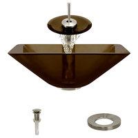 P306 Taupe-BN Bathroom Waterfall Faucet Ensemble