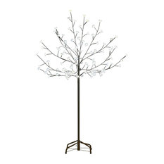 Northlight Seasonal - 6' LED Lighted Cherry Blossom Flower Tree, Lights, Cool White - Christmas Trees