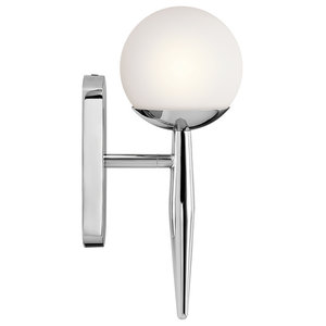 1-Light Bathroom Wall Light, Polished Chrome