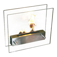 Bluworld HOMelements NF-T2IRA Nu-Flame Irradia Tabletop Fireplace Tempered Clea