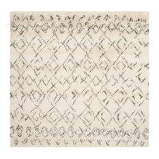 Safavieh Casablanca Collection CSB845 Rug, Ivory/Grey, 6' Square