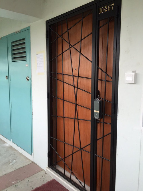 Hdb Gate Main Door And Digital Lock