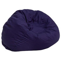 Small Solid Kids Bean Bag Chair, Navy Blue