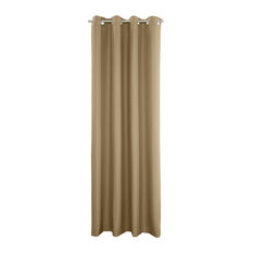 "Outdoor Grommet Top Curtain Panel, Khaki, 50""x96"""