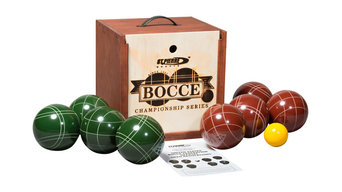 Tournament Bocce Set In Wood Box, TB2 by St. Pierre, Made In USA