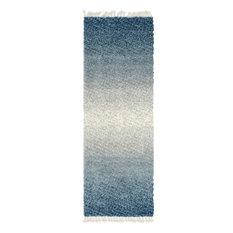 Unique Loom Blue Gradient Hygge Shag 2' 2 x 6' 0 Runner Rug