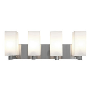 """Archi 24"""" Dimmable LED Wall & Vanity, Brushed Steel Finish, Opal Glass Diffuser"""