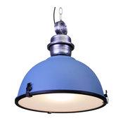 Large Industrial Warehouse Pendant Light, Blue