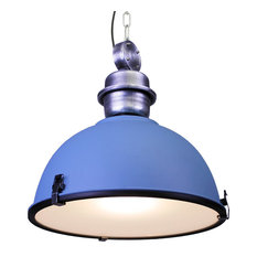 Affordable Quality Lighting   Large Industrial Warehouse Pendant Light,  Daylight Blue   Pendant Lighting