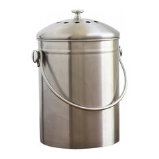 Natural Home - Stainless Steel Compost Bin 1.3 Gallon - Compost Bins