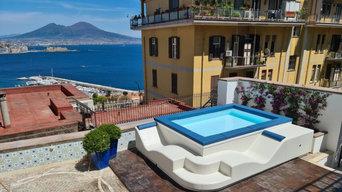 Piscina su misura modello Spa Space®  in un terrazzo di Napoli