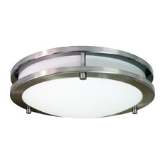 Homeselects International Saturn 2 Light Flush Mount Fixture Flush Mount Ceiling Lighting