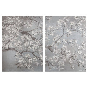 Tranquil Orchid Printed Canvas, 2 Pieces