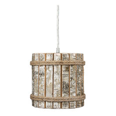 Woody 1 Light Mini Pendant in Brushed Nickel