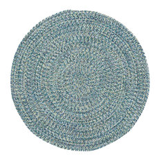 Sea Pottery Braided Round Rug, Blue, 7'6""
