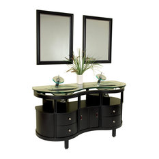 Fresca Unico Espresso Modern Bathroom Vanity With Mirrors