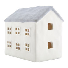 Light Glow - Light-Glow Medium House With LED, Grey - Christmas Ornaments