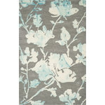 Safavieh - Safavieh Dip Dyed DDY716L 8'x10' Turquoise, Gray Rug - This Hand Tufted rug would make a great addition to any room in the house. The plush feel and durability of this rug will make it a must for your home. Quick Delivery - Satisfaction Guaranteed