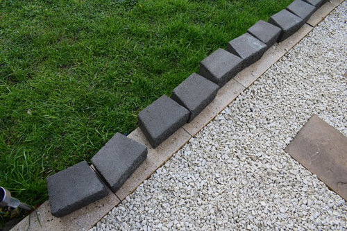 Paver Or Block Edging For Garden Bed