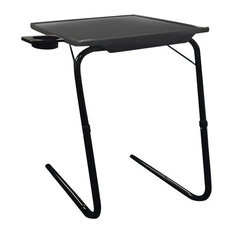 Portable Mate TV Dinner Laptop Tray Adjustable Folding Table With Cup Holder