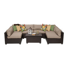 Belle 7-Piece Outdoor Sectional Sofa With Coffee Table