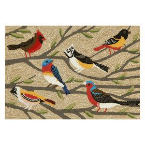 """Frontporch Birds Mat, Neutral, 20""""x30"""", Neutral, 24""""x36"""""""