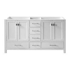 double sink white vanity. Virtu Usa Inc  Caroline Avenue Single Vanity Base Only White 60 Double Sink Bathroom Vanities Houzz