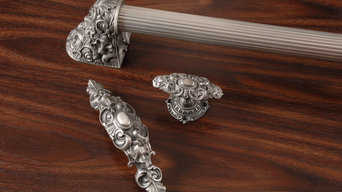 Acanthus Appliance Pull with Queensway Knob, Pull & Back Plate