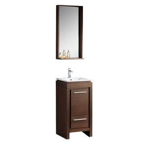 Wenge Brown Modern Bathroom Vanity