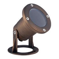 """Underwater Light 3.875""""x3.75""""Antique Brass Glass G4 Halogen 35W/LED"""