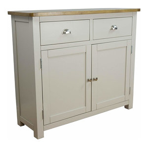 Modern Stylish Sideboard, Grey Painted MDF With 2-Door and 2-Storage Drawer