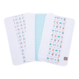 Trend Lab Fox And Feathers 3 Pack Bib Set Contemporary