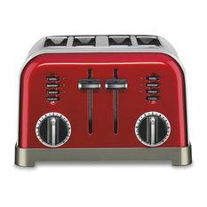 Cuisinart Metal Classic Toaster, 4 Slice, Metallic Red