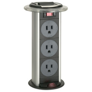 Sensio Pop Up Power Charging Station 3 Socket 2 Usb