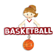 polarx ornaments personalizable sports ornament basketball girl christmas ornaments