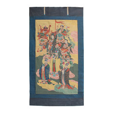 Large Chinese Canvas Art of The Three Great Emperor-Officials Hcs4613
