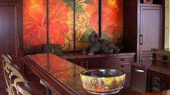 Hibiscus Panels / Big screen TV enclosure