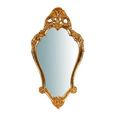 Baroque Antique Gold Wall Mirror, 41x77 cm