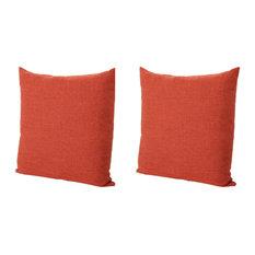 GDF Studio Soyala Soft Smooth Fabric Throw Pillow, Muted Orange, Set of 2