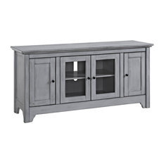 Bay   Edison 3 Cabinet TV Stand, Antique Gray   Entertainment Centers And Tv