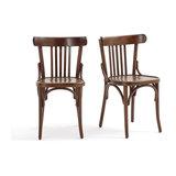 Комплект из 2 стульев с перекладинами, BISTRO LA REDOUTE INTERIEURS