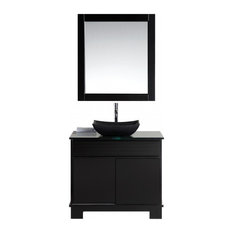 "Oasis 36"" Single Sink Vanity Set, Decorative Drawer, Espresso"