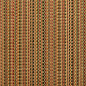 Green, Gold And Burgundy Woven Striped Faux Silk Upholstery Fabric By The Yard