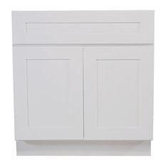 "Design House Brookings Sink Base Cabinet, White Shaker, 42"""